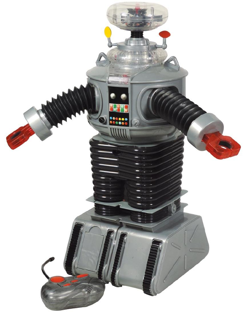 Toy robot, Robby the Robot, remote controlled, molded