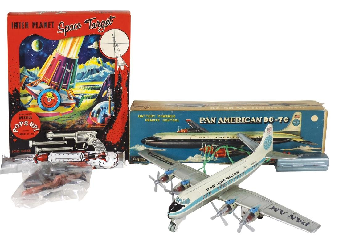 Toy airplane & space target, Cragstan Pan American