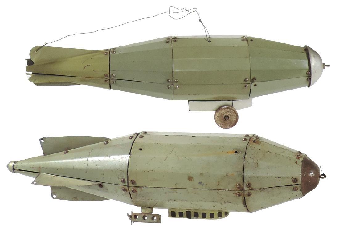 Toy zeppelins (2), Steelcraft & Erector Set Zep,