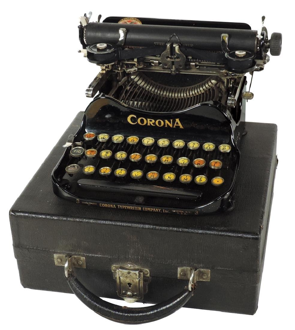 Office equipment, Corona Portable #3 typewriter w/case,