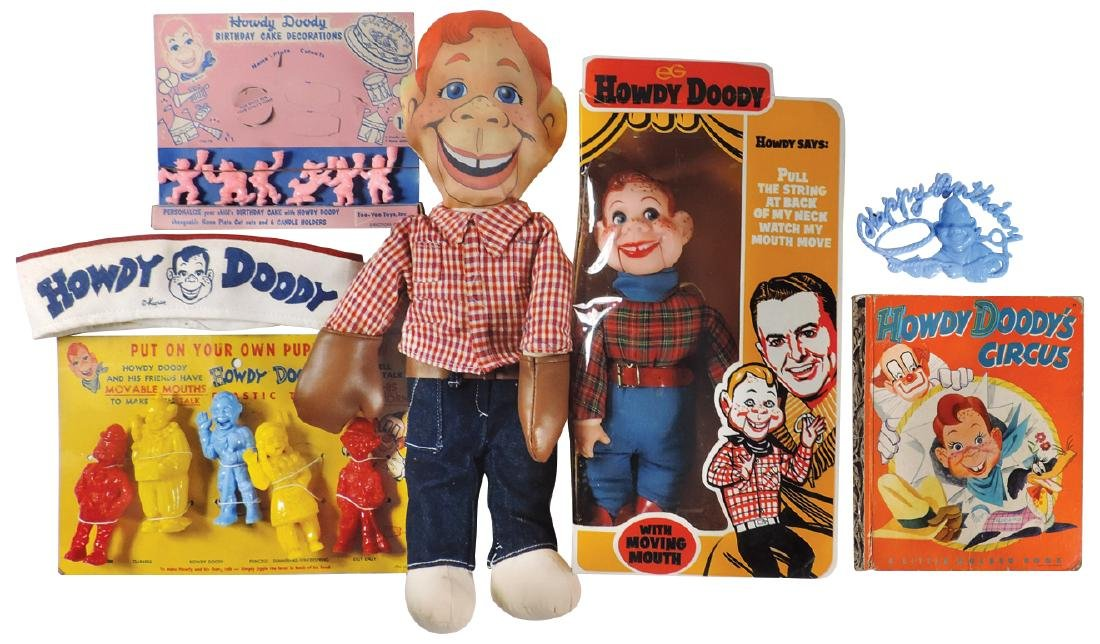 Toys (6), all Howdy Doody, finger puppets w/moveable