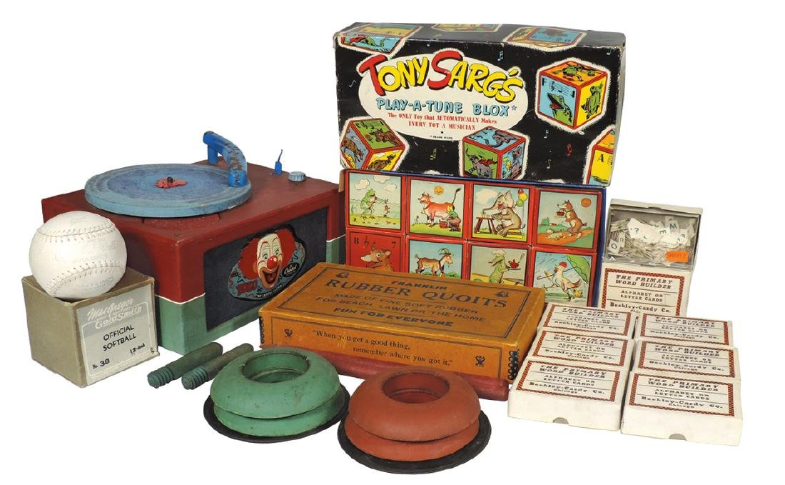 Toys (5), Bozo The Capital Clown record player by