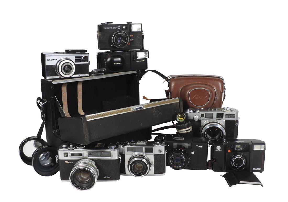 Camera, misc 35mm cameras; Ricoh Wide 2.4, Konica C35,