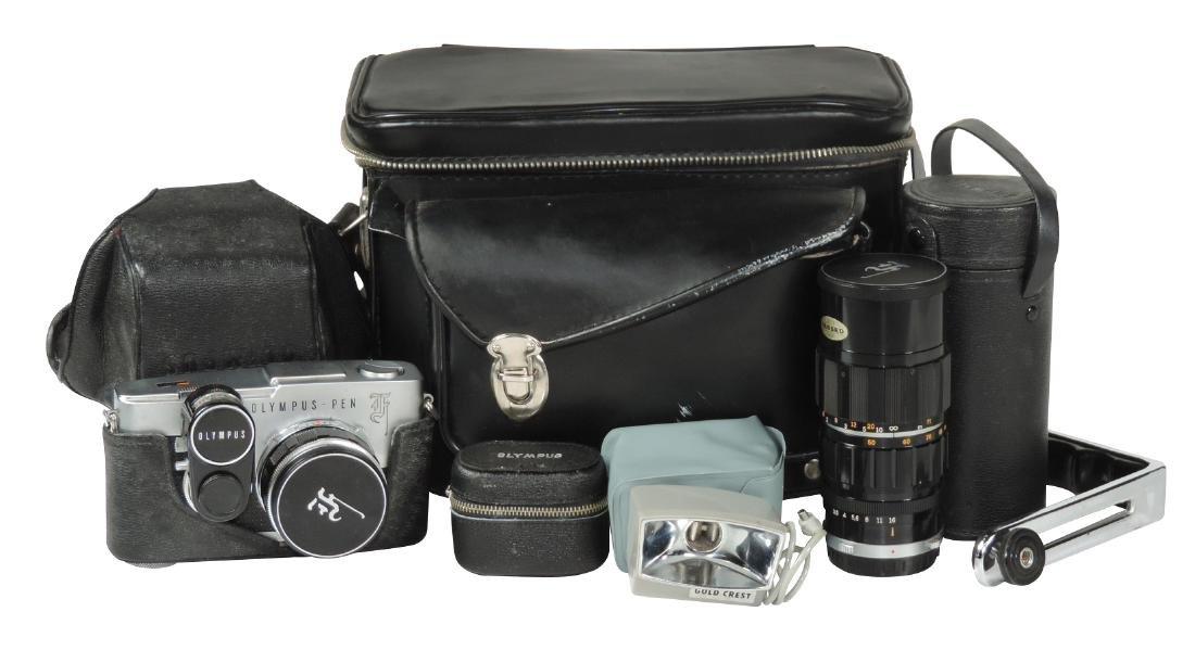 Camera, Olympus Pen-F, 38mm f/1.8 Zuiko w/case, IB;