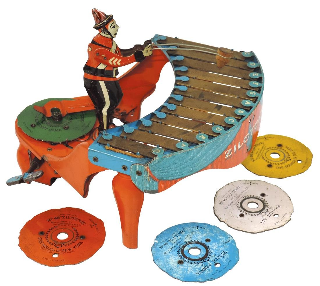Toy Zilotone, mfgd by Wolverine Mfg Co., includes five