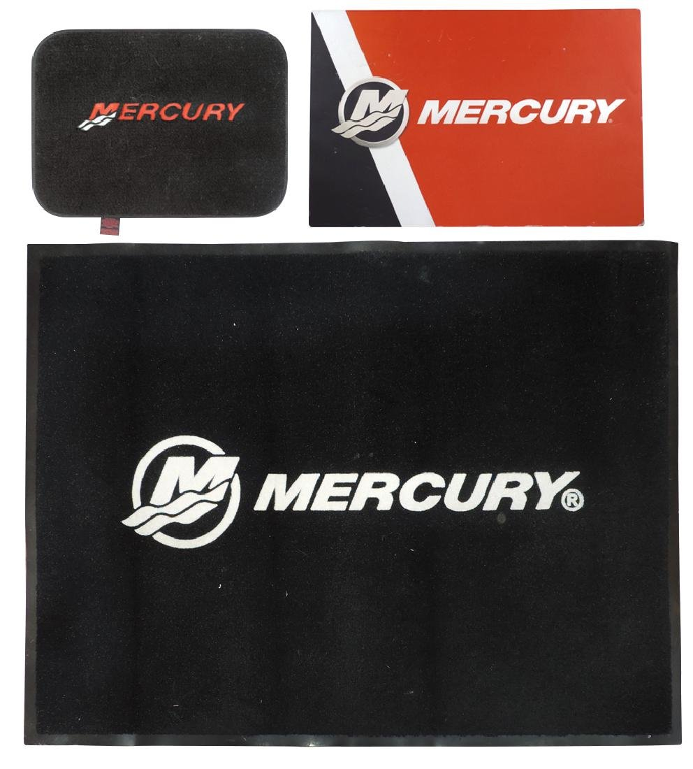 Outboard motor contemporary sign & floor mats (4), - 2