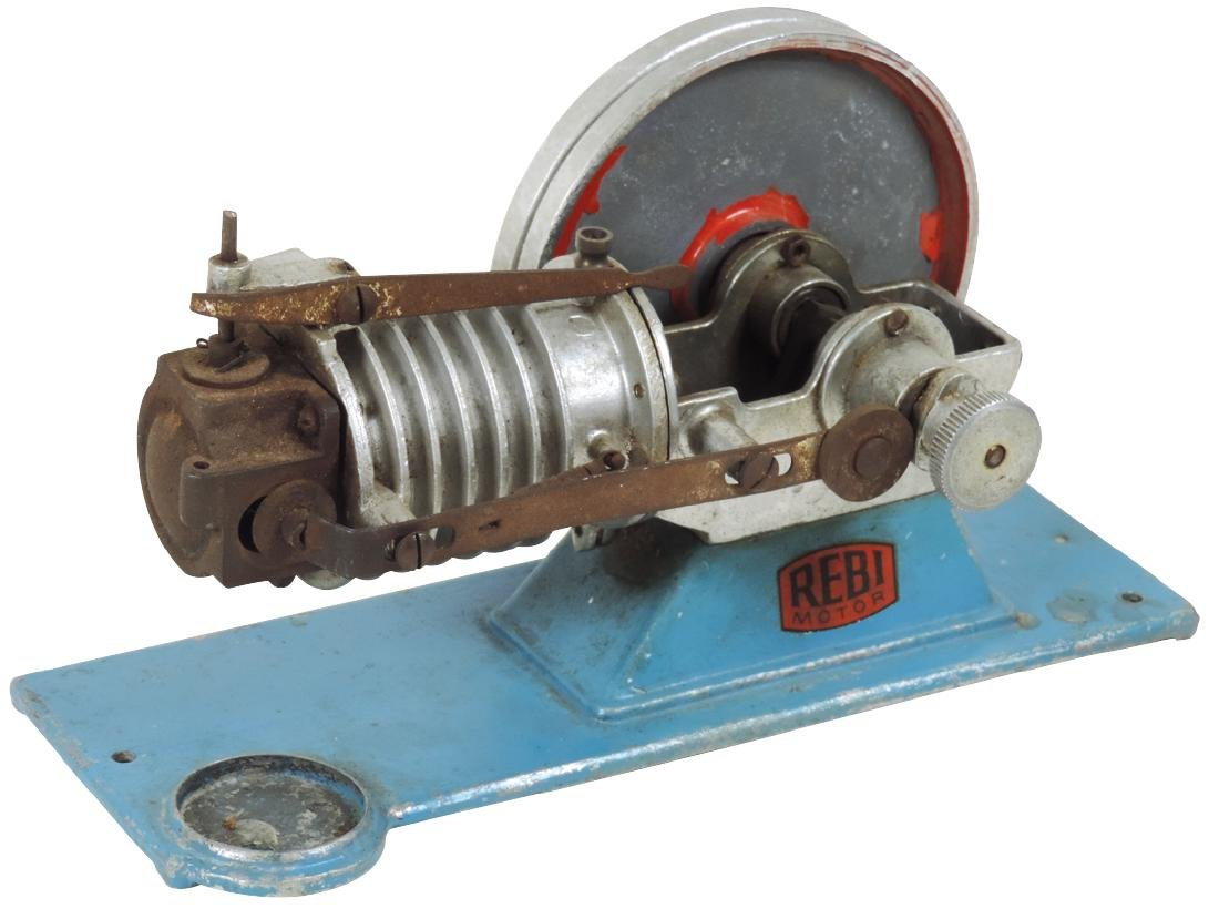 Steam toy, Rebi Flame Licker Motor Type R2, c.1950,