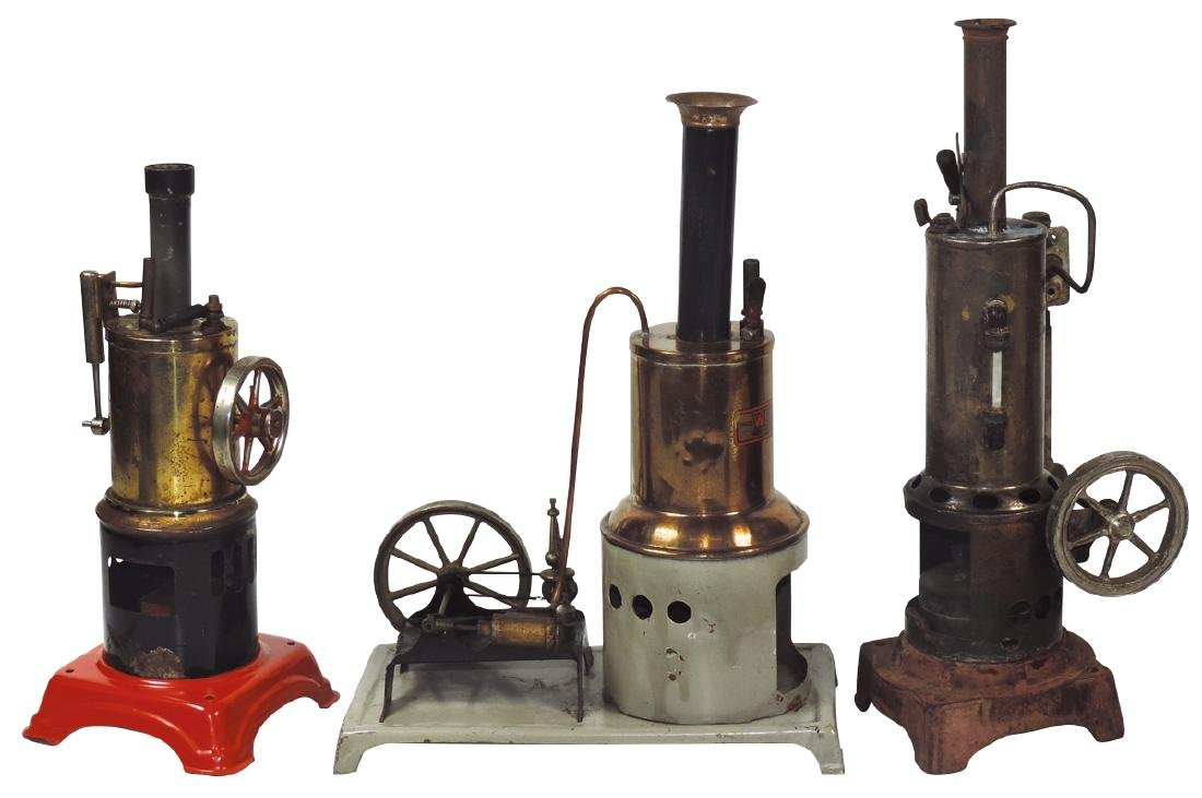 Steam toys (3), engines, 2 marked Weeden & 1 unmarked,