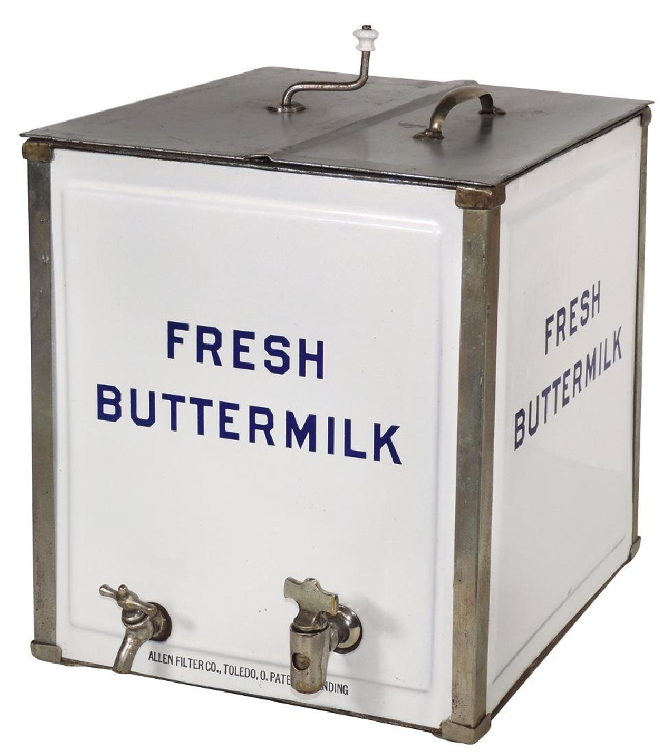 Country store buttermilk dispenser, mfgd by Allen