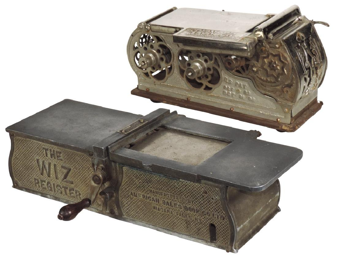 Country store receipt registers (2), The Pioneer, mfgd