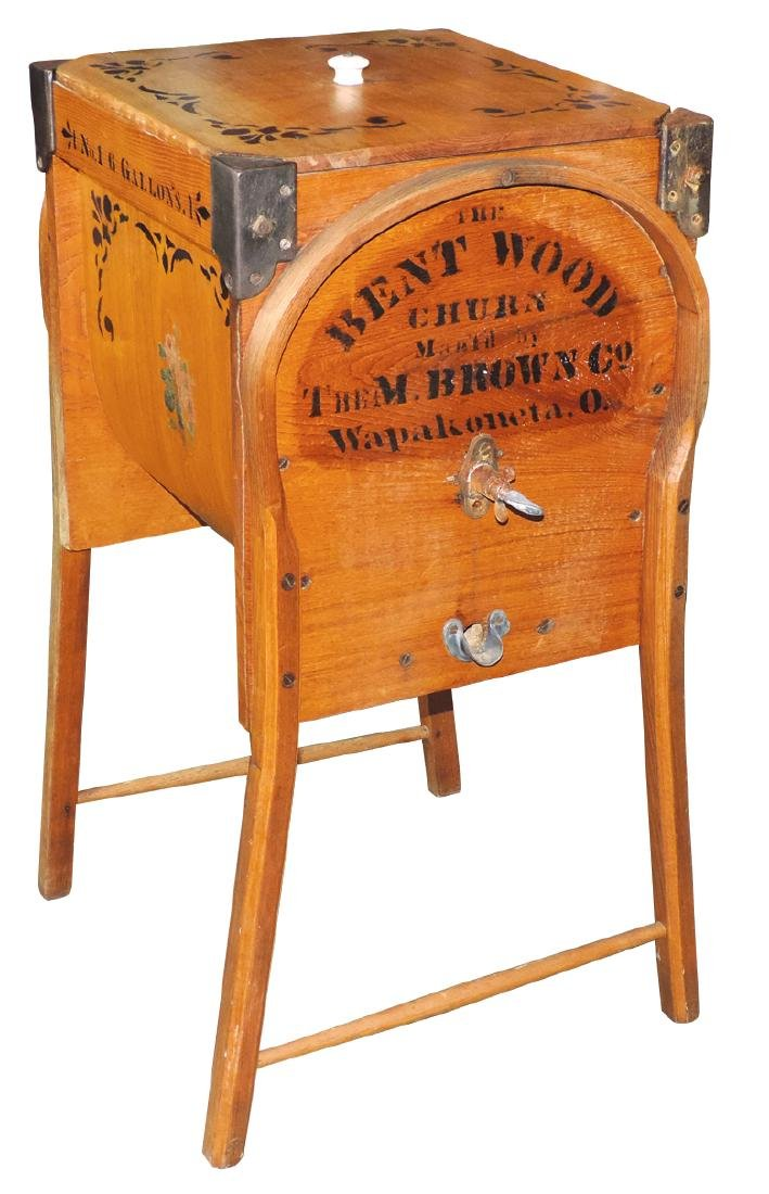 Country store churn, The Bent Wood Churn, mfgd by The
