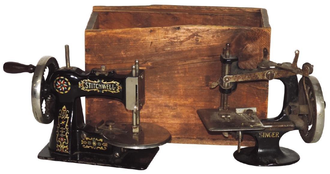 Children's sewing machines (2), Stitchwell & Singer,