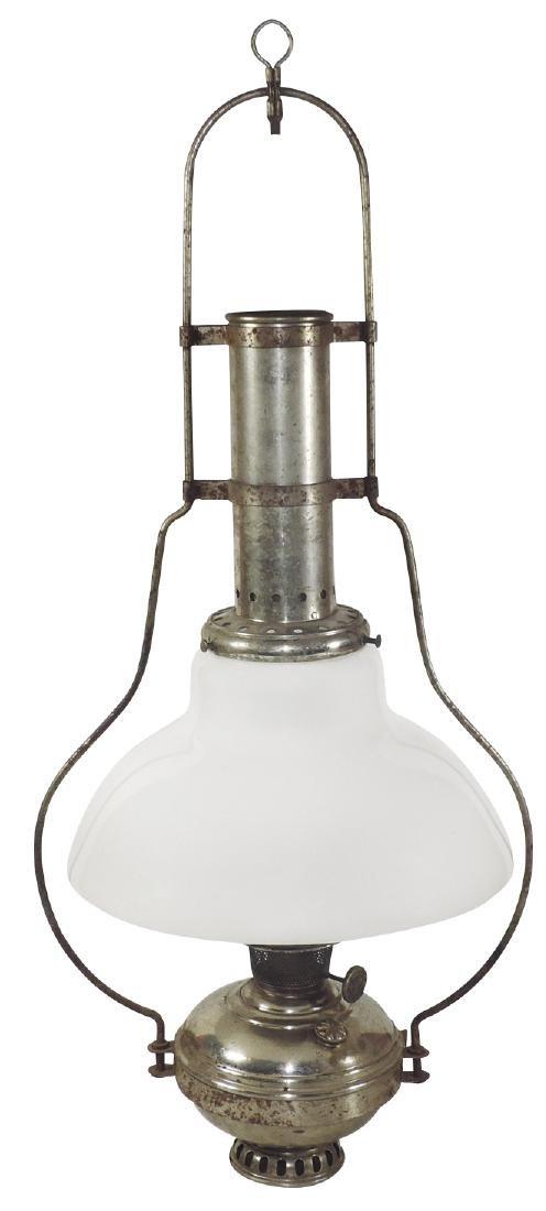 Country store hanging oil lamp, Aladdin metal lamp