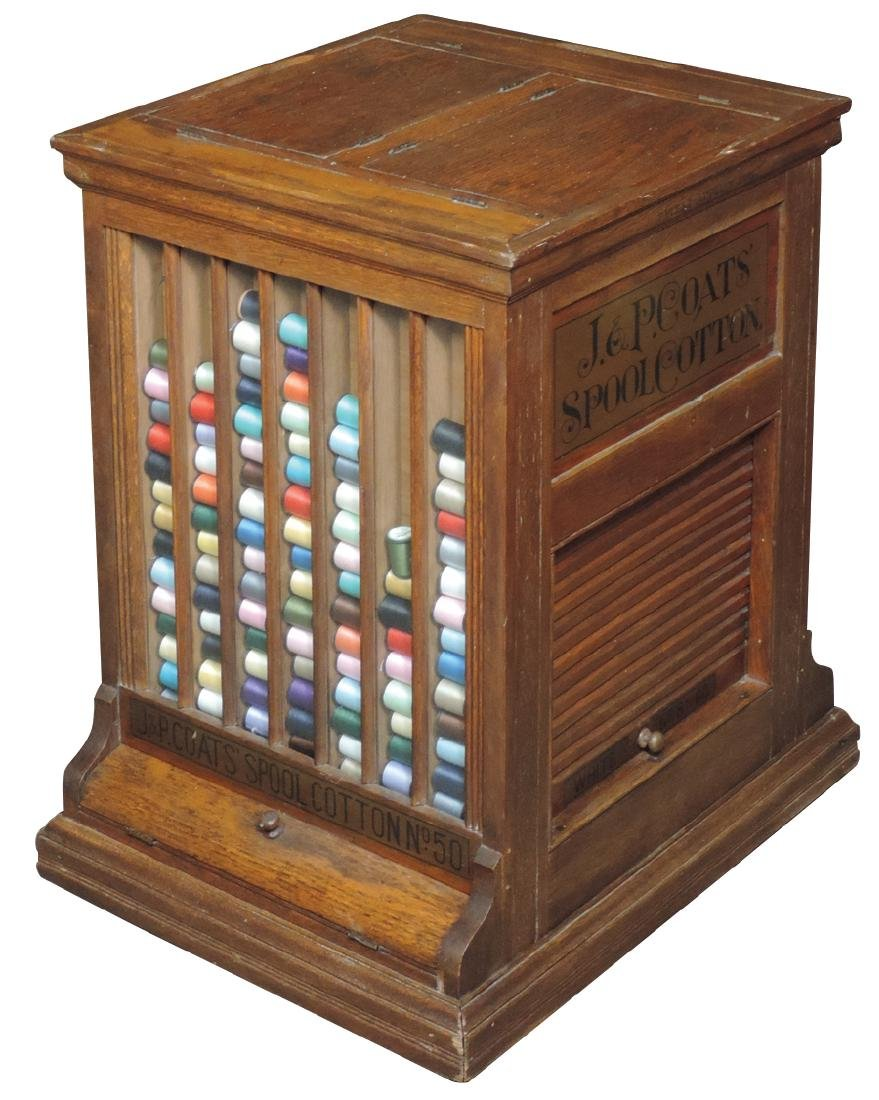 Country store spool cabinet, J. & P. Coats' Spool