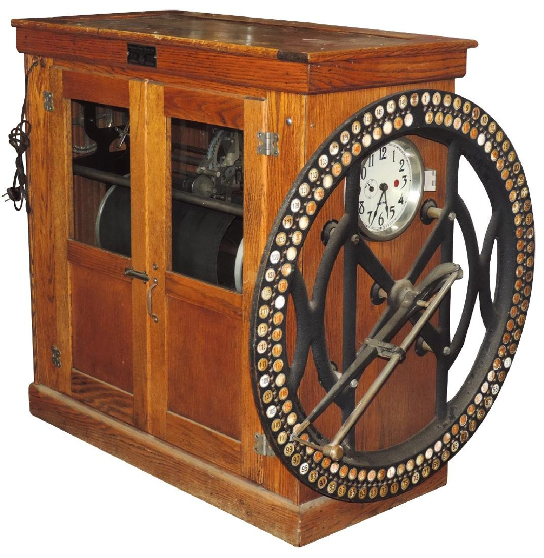 Country store time clock, International Business