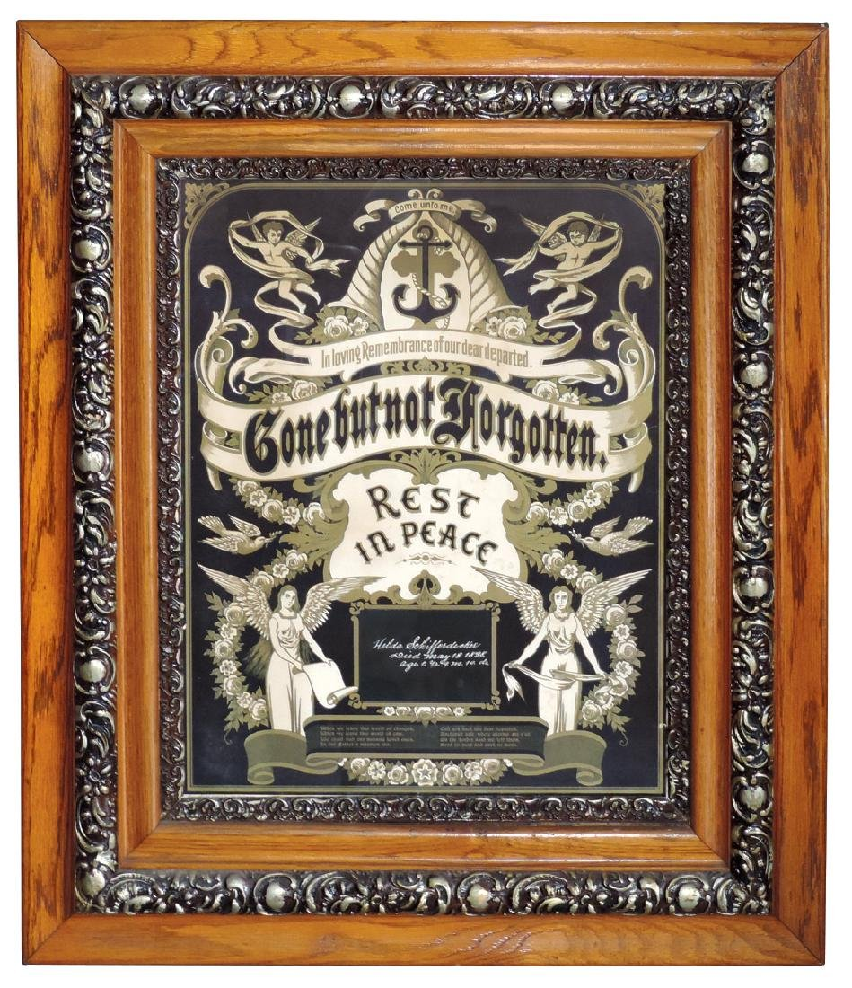 """Funeralia, Victorian memorial art, """"Gone But Not"""