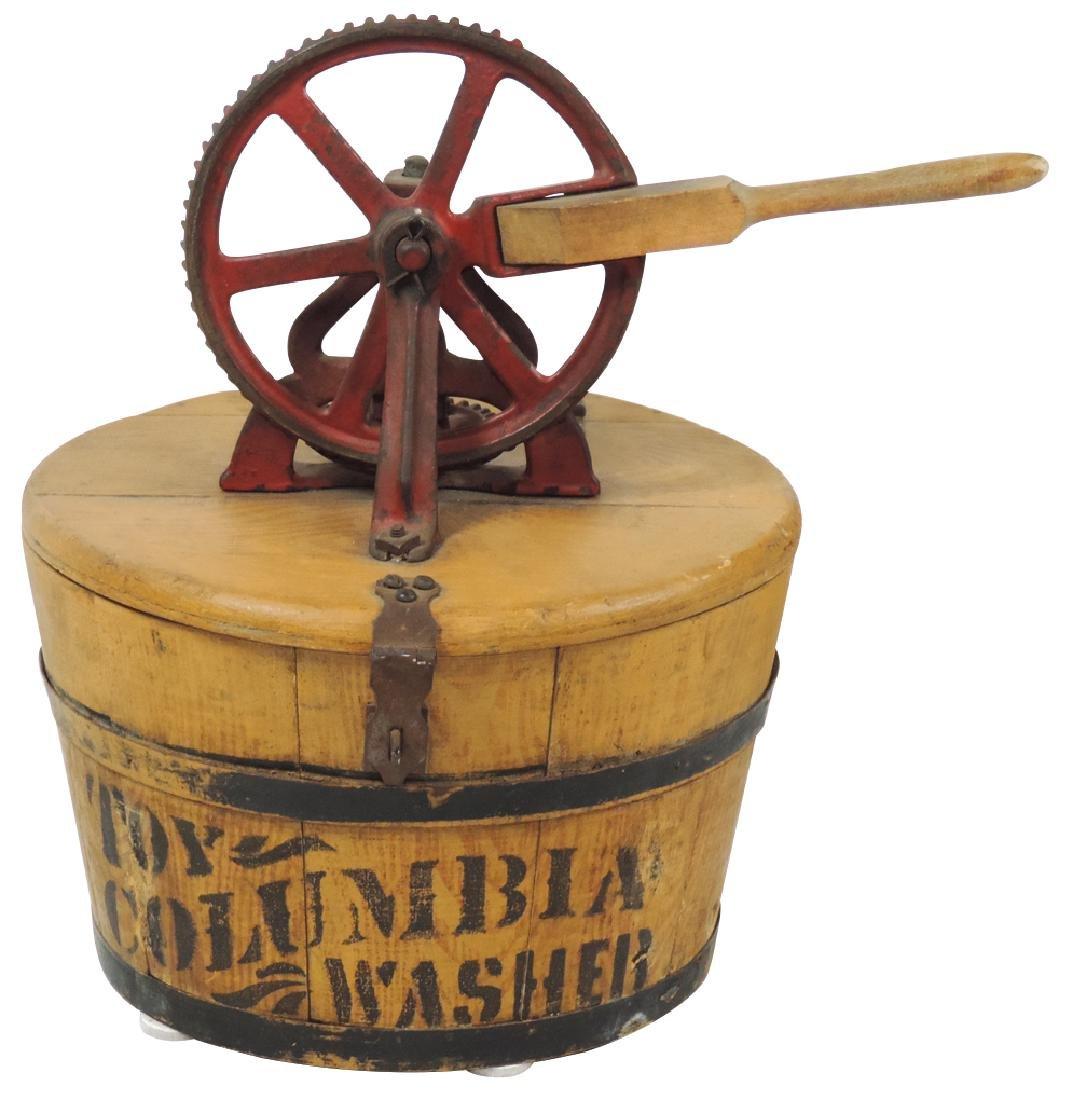 Salesman sample wringer washer, The Columbia Washer,