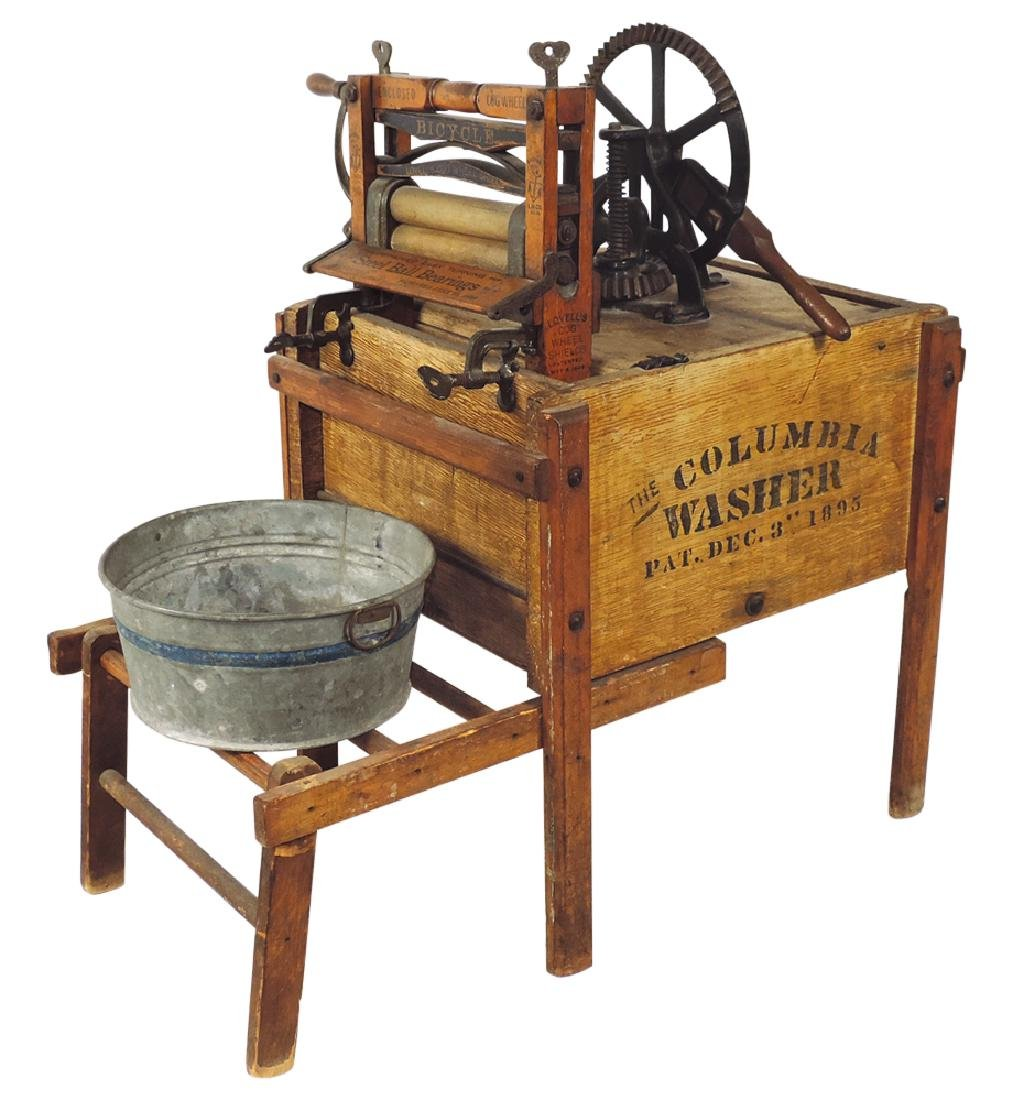 "Salesman sample wringer washer"", The Columbia Washer"","