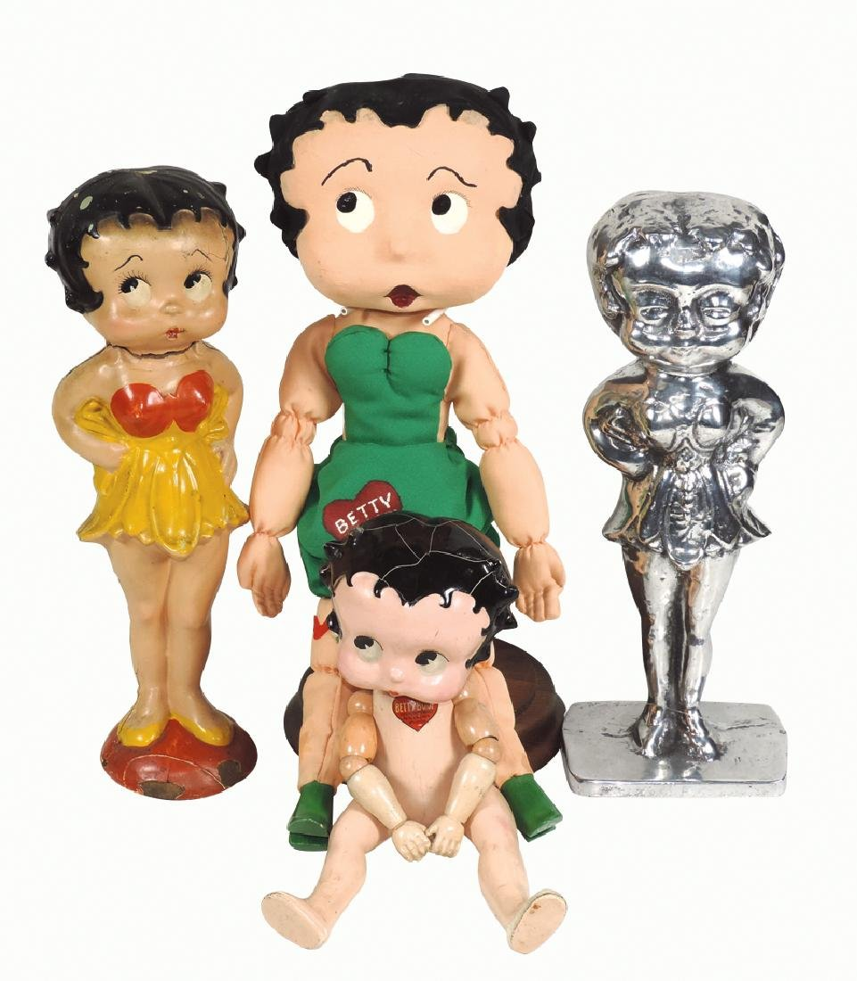 Betty Boop items (4), jointed doll by Fleischer Studios