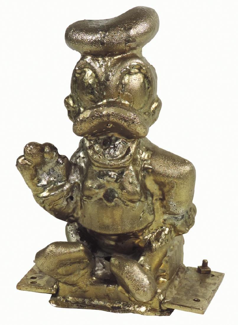 Disney Donald Duck factory mold, heavy metal w/brass