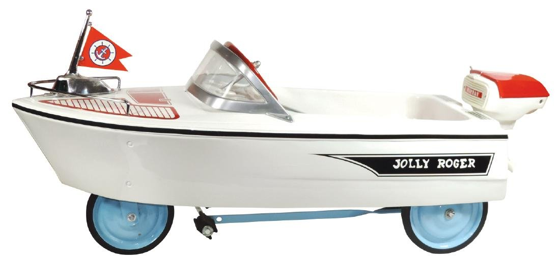 "Children's pedal boat, Murray ""Jolly Roger"", painted"