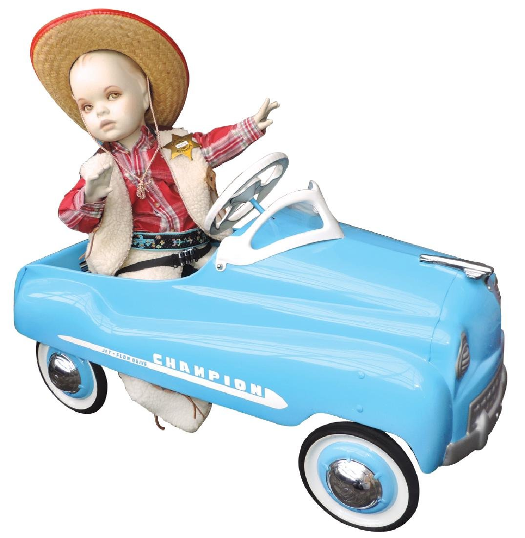 Children's pedal car & child mannequin (2), Murray