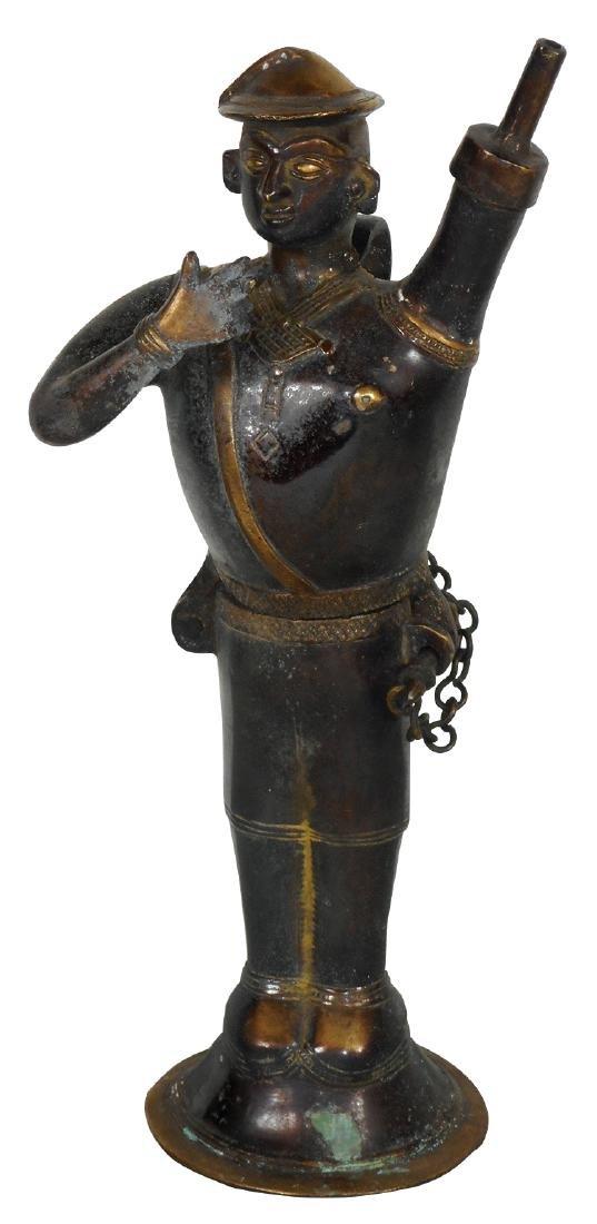 Cigar lighter, Samurai Warrior, cast metal w/orig