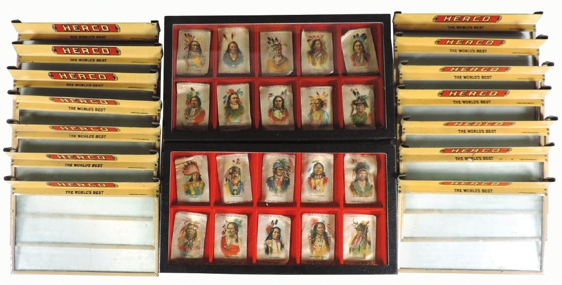 Tobacciana, 20 Native American tobacco silks & 13 Herco