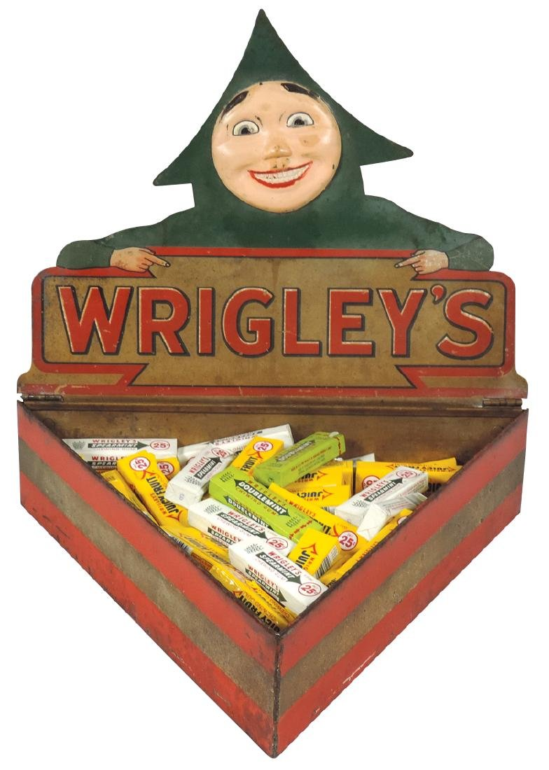 Country store Wrigley's chewing gum counter display,