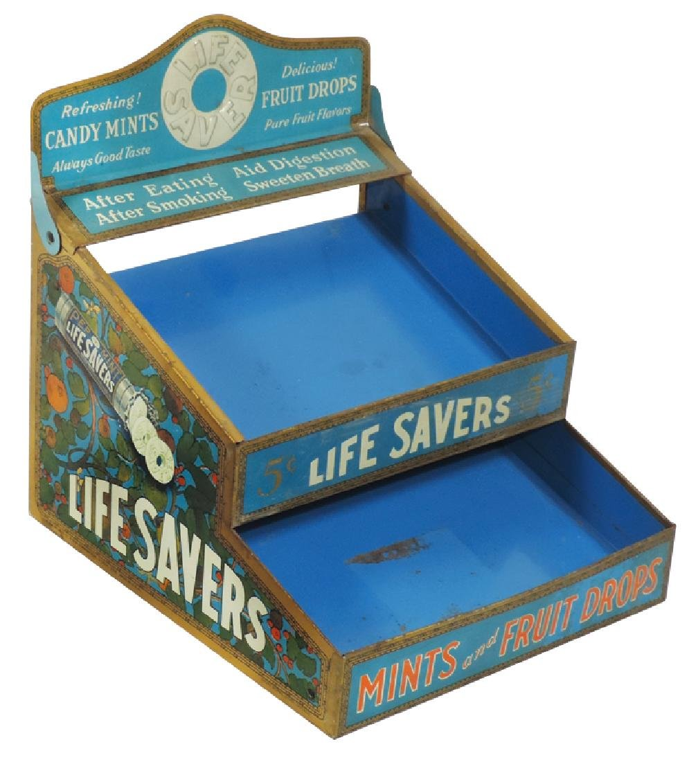 Country store Life Savers counter display, litho on