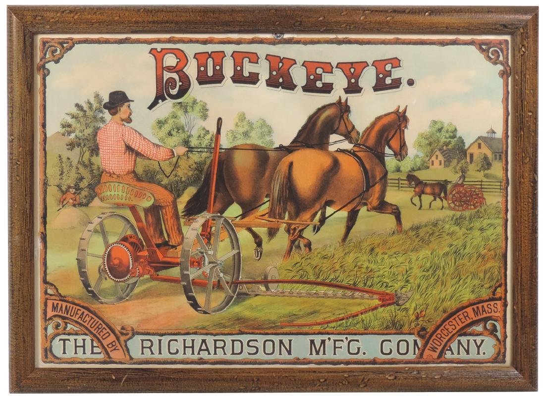 Country store advertising sign, Buckeye Farm Machinery,