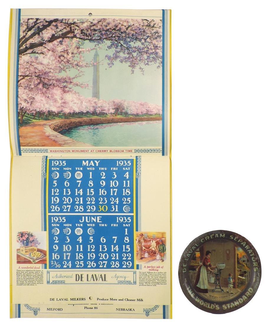 De Laval tip tray & calendar, De Laval Cream