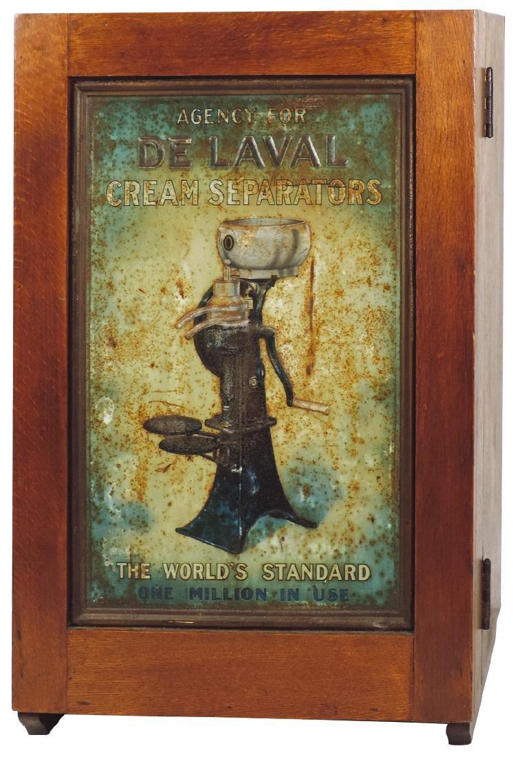 De Laval Cream Separators parts cabinet, oak case