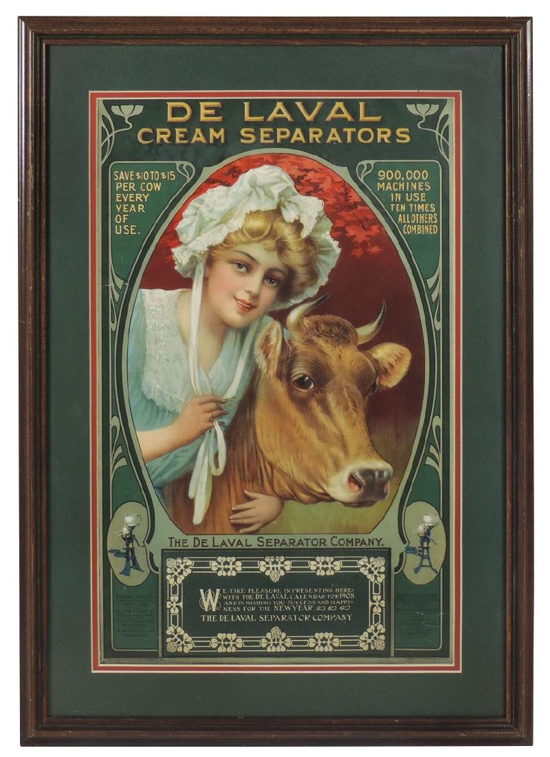 De Laval Cream Separators 1908 calendar, milkmaid