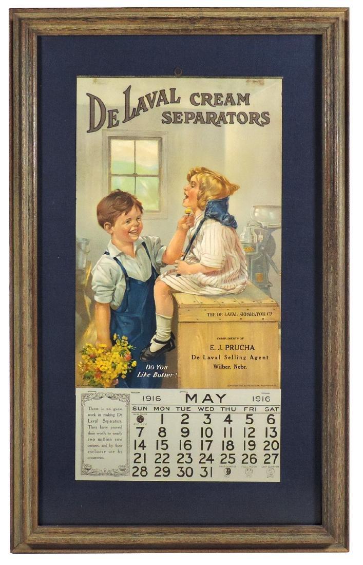 De Laval Cream Separators 1915 calendar, from E. J.