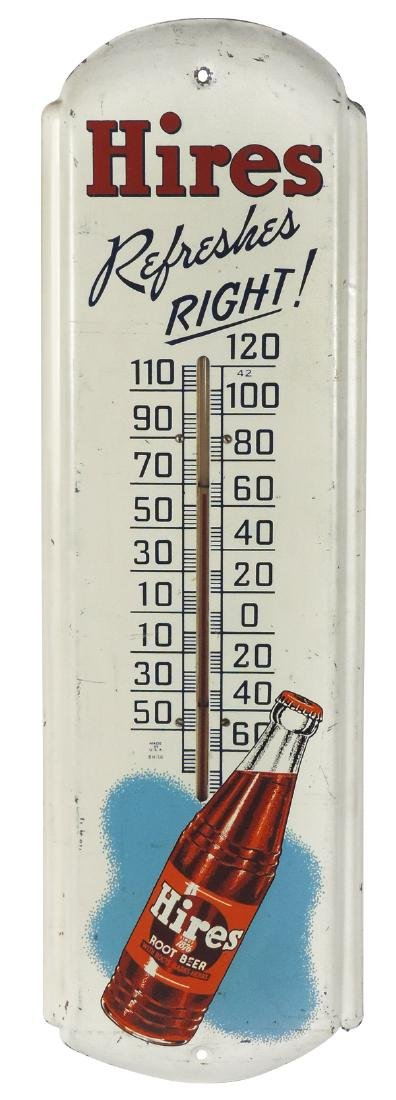 Soda fountain thermometer, Hires, litho on metal, VG