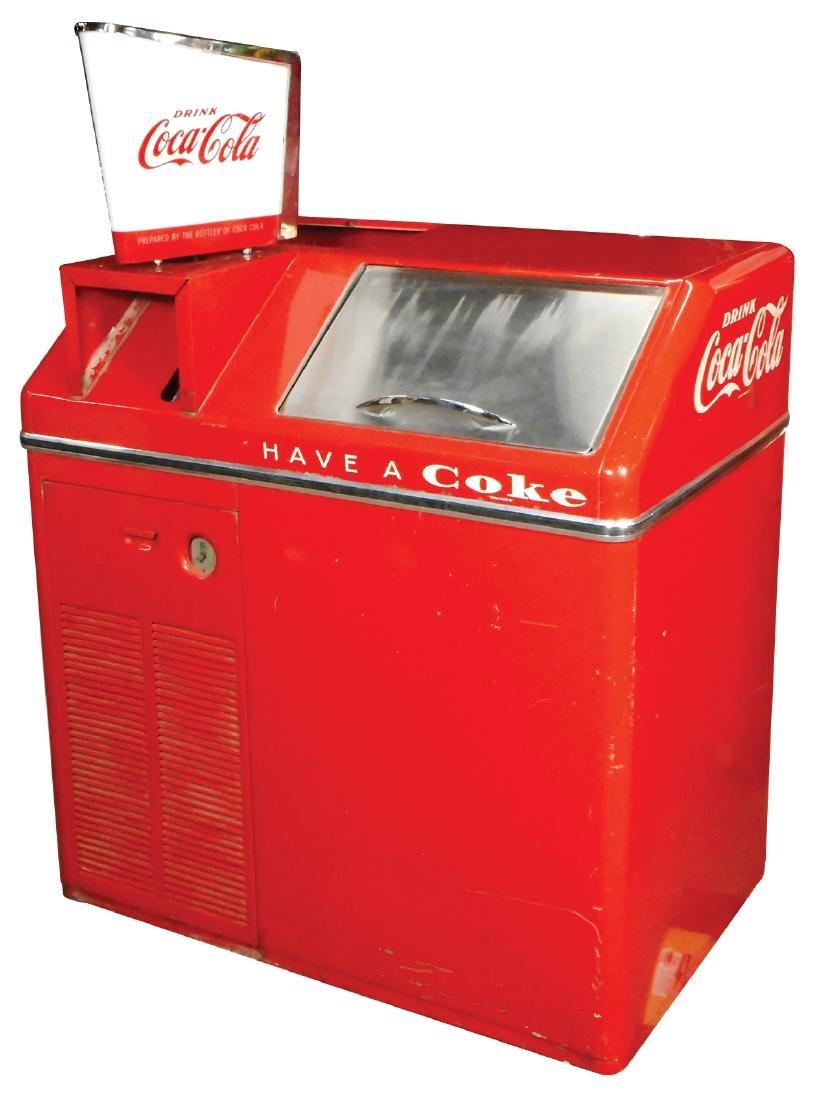 Coca-Cola cooler w/ice maker, Vendo Galaxie Model
