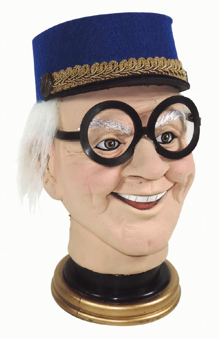 Disney Animator Ward Kimball figural head, handcrafted