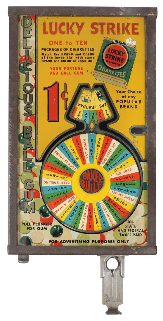 Coin-operated trade stimulator, Lucky Strike, 1 Cent