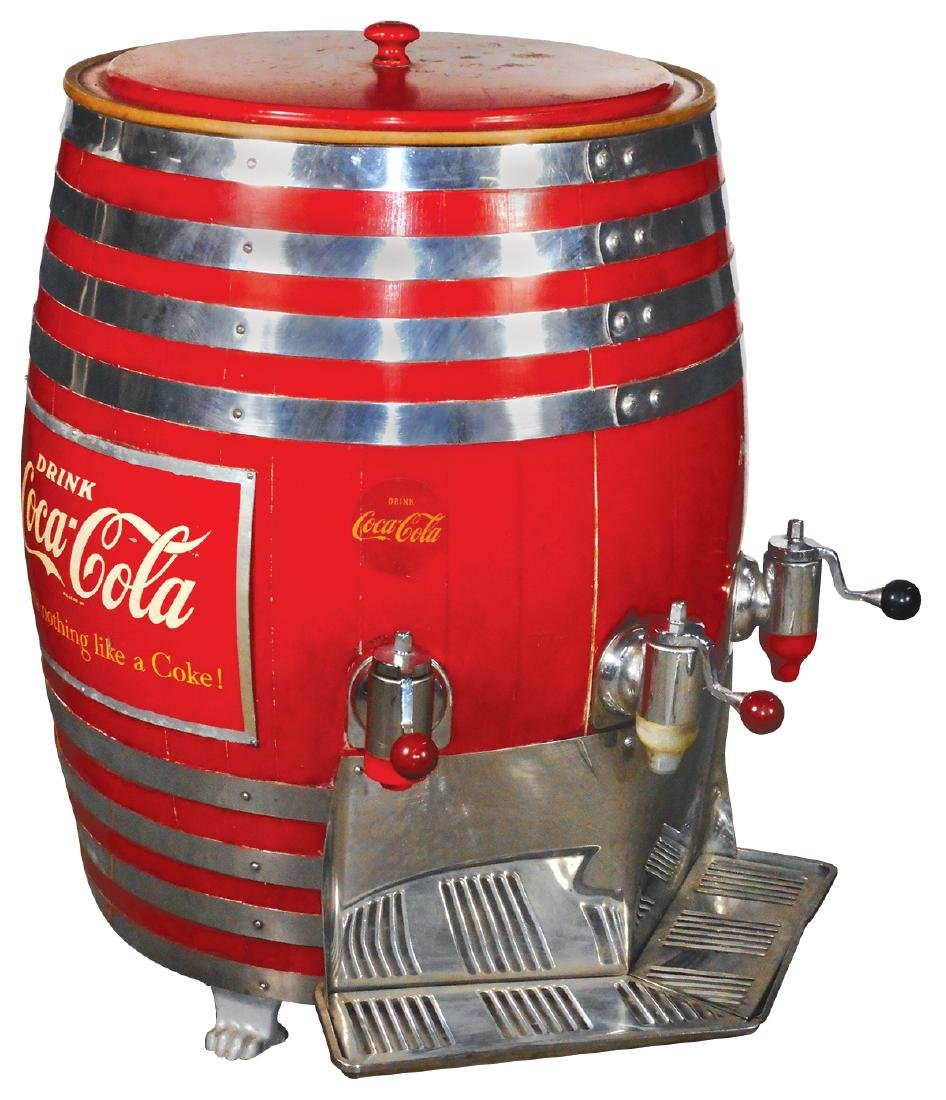 Soda fountain syrup dispenser, Coca-Cola & Root Beer,