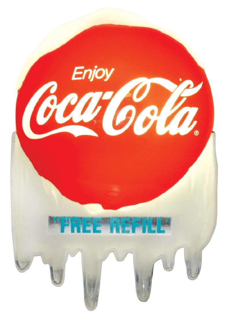 Coca-Cola sign, molded plastic light-up, Exc working