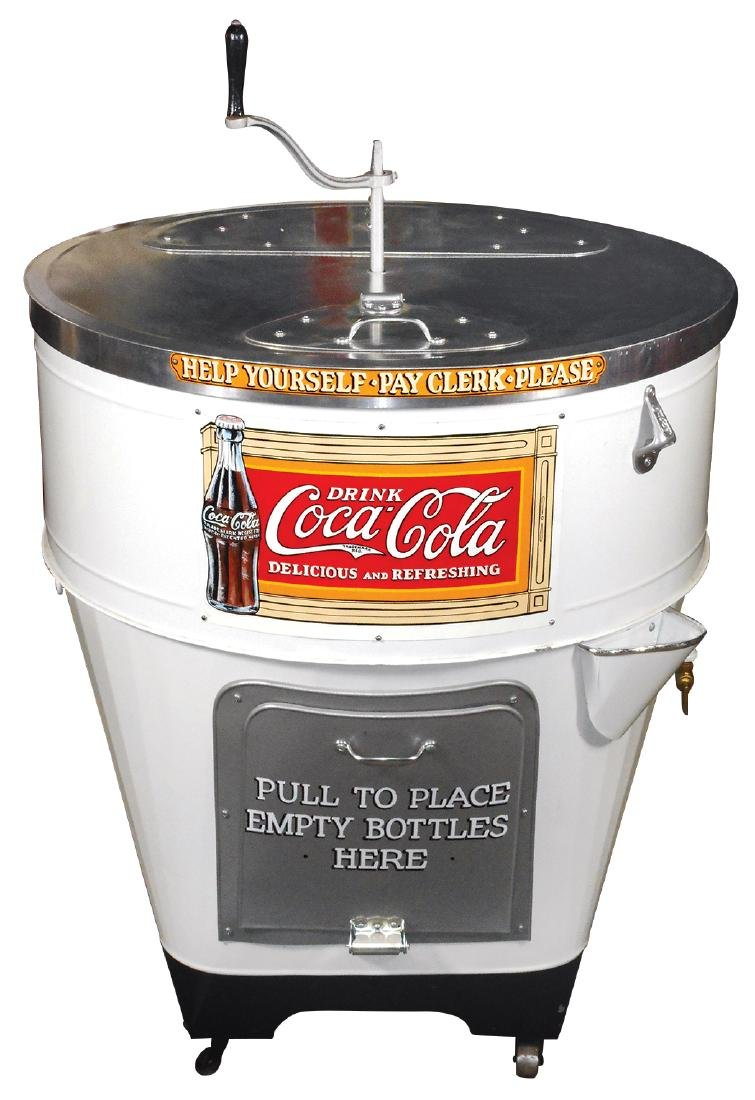 Coca-Cola cooler, ICY-O, older restoration w/newer