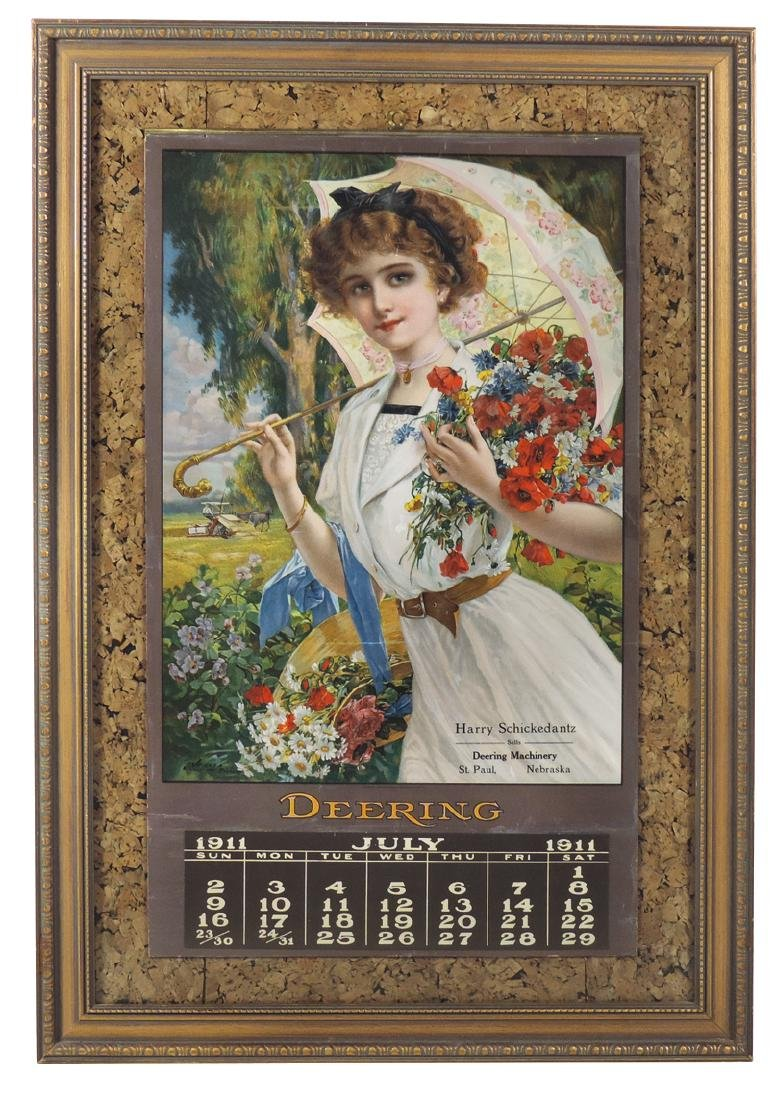 Advertising calendar, Deering Machinery, from Harry