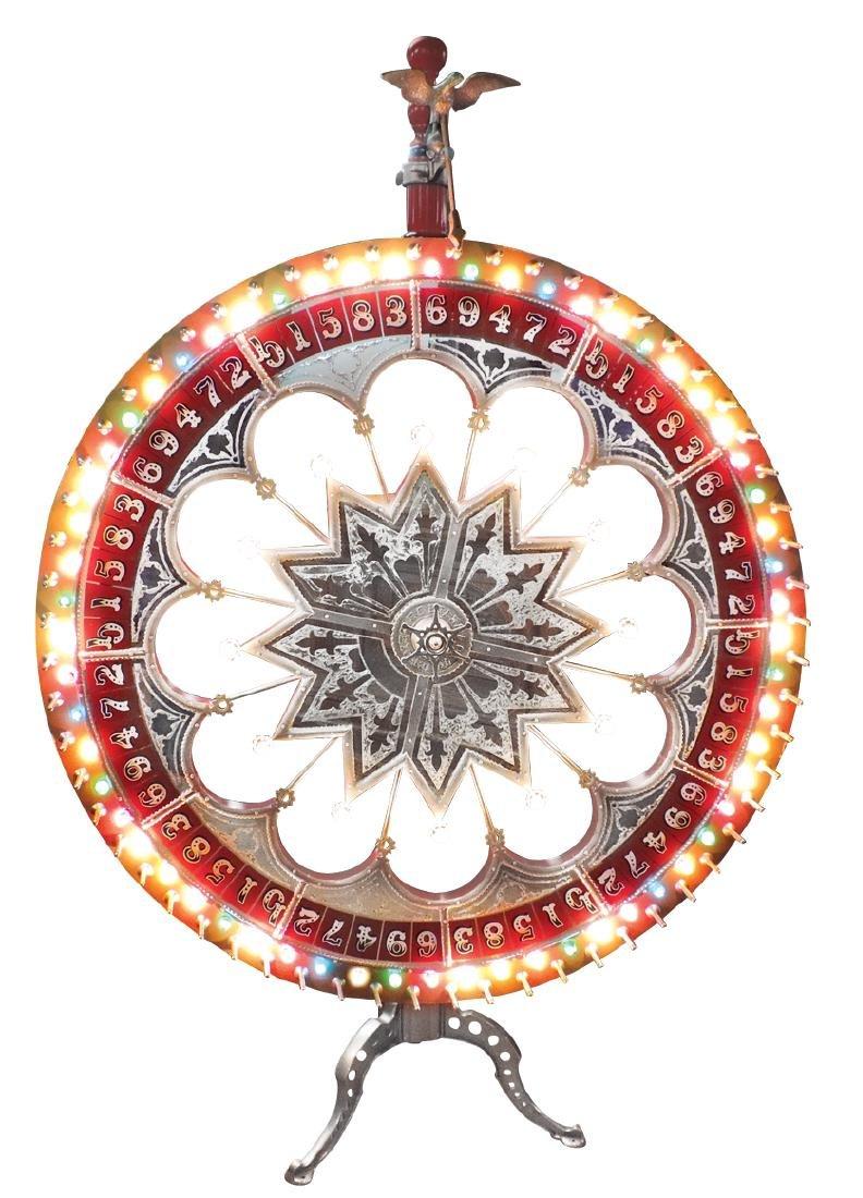 Gambling wheel, H. C. Evans Co.-Chicago, 2 light-up
