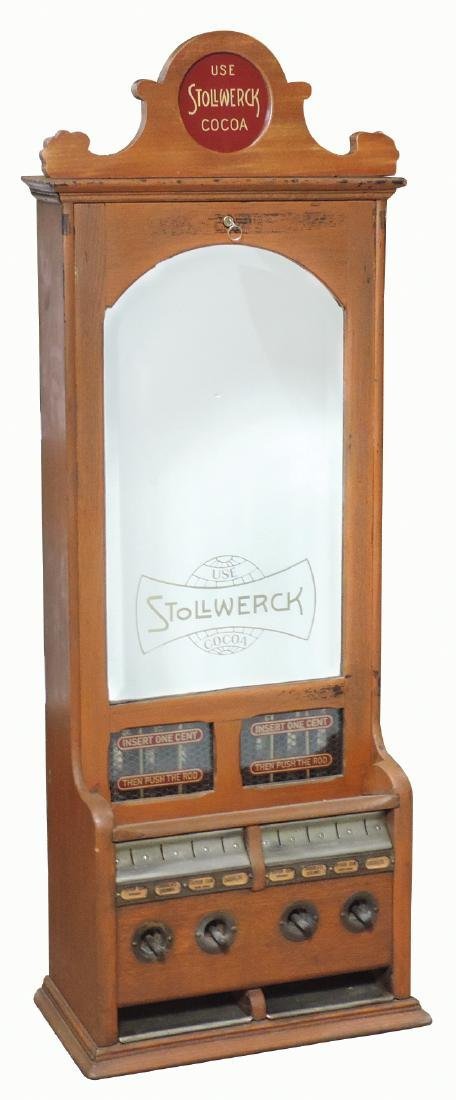 Coin-operated gum & candy vendor, Stollwerck, 1 Cent,