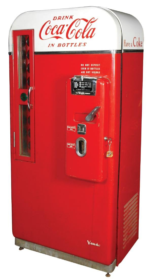 Coca-Cola machine, Vendo 81B, c.1950's, missing inside