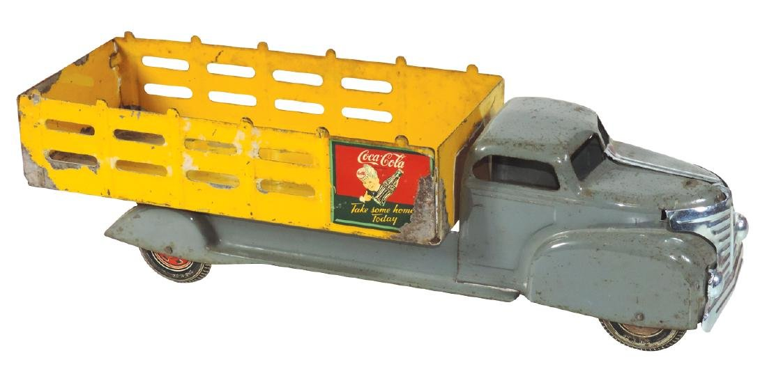 Coca-Cola delivery truck, Marx, pressed steel w/orig