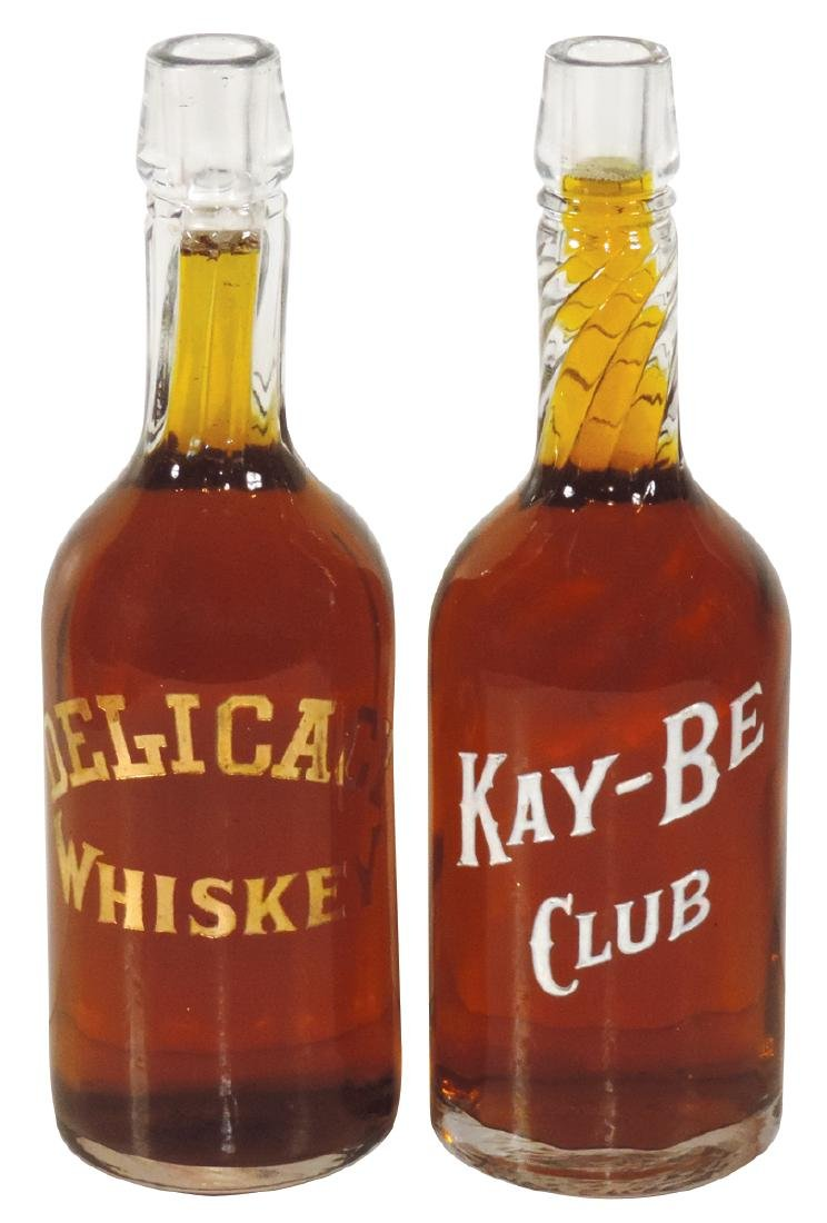 "Breweriana back bar bottles (2), ""Kay-Be Club"" &"