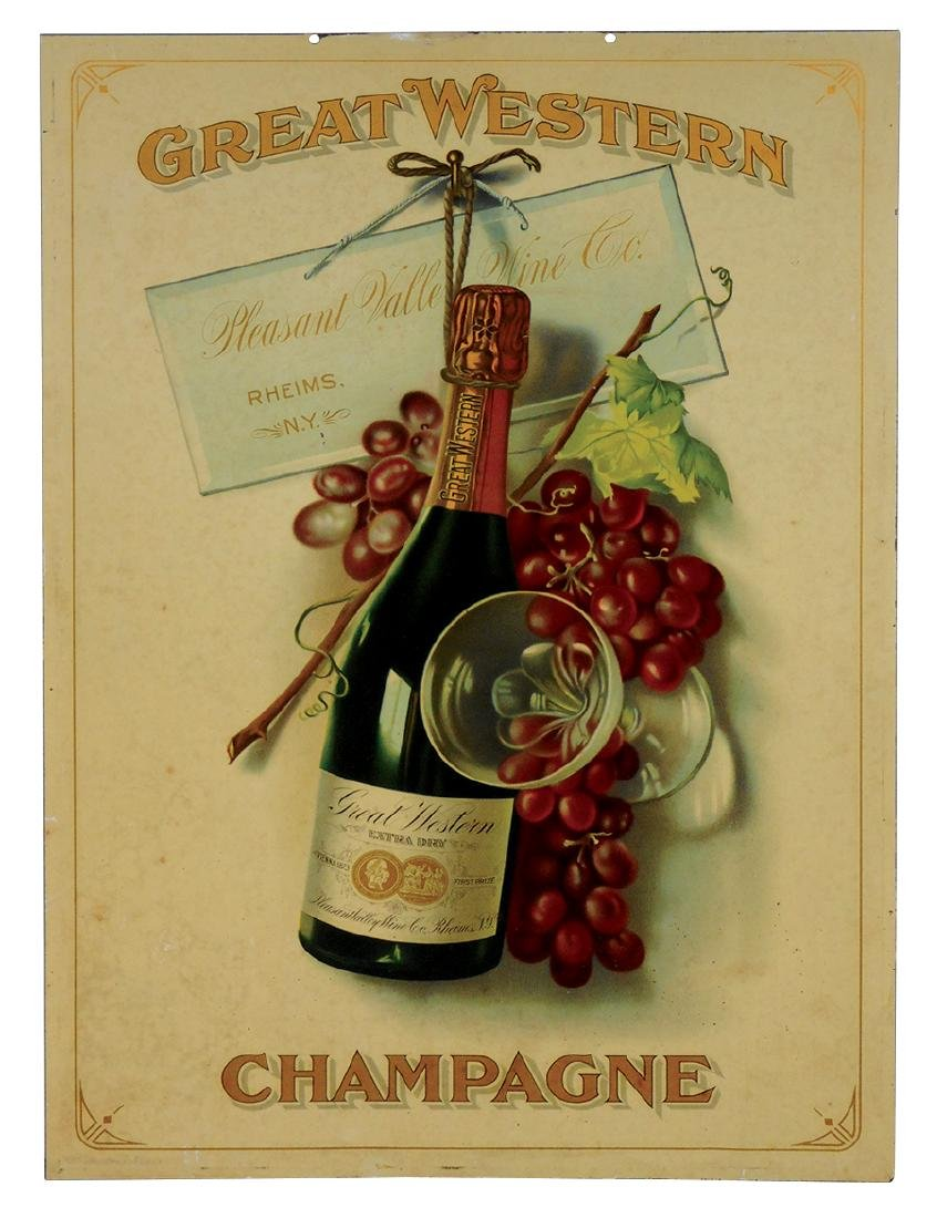 Breweriana sign, Great Western Champagne, from Pleasant