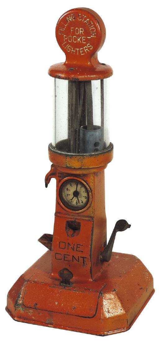 "Coin-operated lighter fluid dispenser, ""Filling Station"